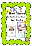 CVC E Short Stories/ Reading Comprehension Passages Mini Tab Book