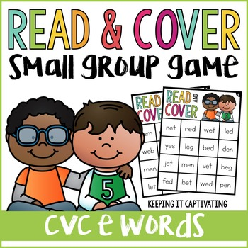 CVC E Words Read & Cover {Small Group Game}