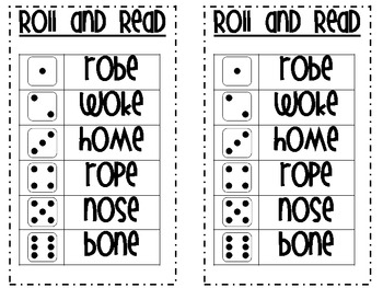 CVC-E Words Roll and Read