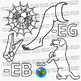 CVC -EB & -EG Word Family Clip Art