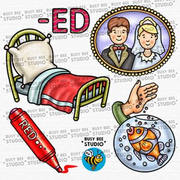 CVC -ED Word Family Clip Art