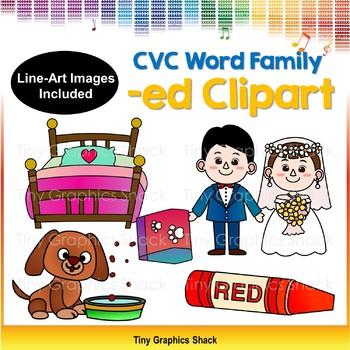 CVC -ED Word Family Clip Art (Short E)