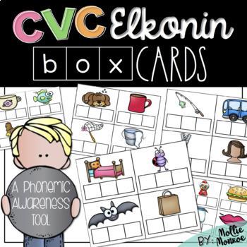 CVC Elkonin Box Cards