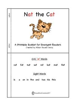 CVC - Emergent Reader - Nat the Cat