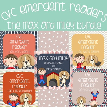 CVC Emergent Readers: The Max and Miley Bundle