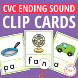CVC Word Family Ending Sound Clip Cards