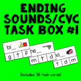 CVC / Ending Sounds Clothespin Activity --Print, Laminate,