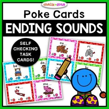 CVC Ending Sound Poke Cards