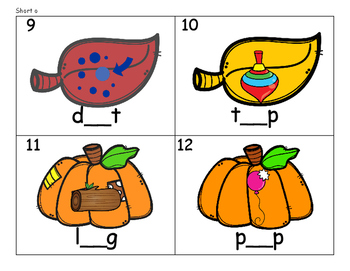 CVC Fall - Beginning, Middle, and Ending Sounds