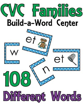 CVC Families Build a Word Center