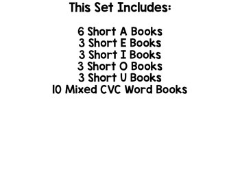 CVC Word Flip-Up Books