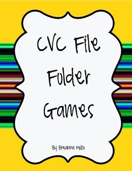 CVC File Folder Games