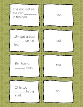 CVC Fill-in-the-Blank Memory Game