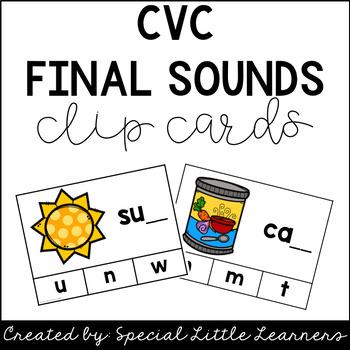 CVC Final Sound Clip Cards