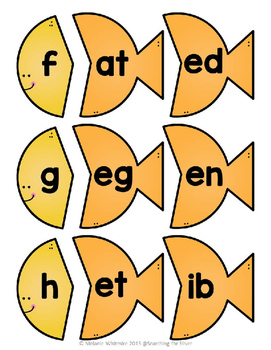 CVC Fish Word Puzzles