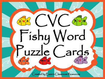 CVC Fishy Word Puzzle Cards