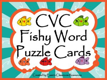 CVC Fishy Word Puzzle Cards