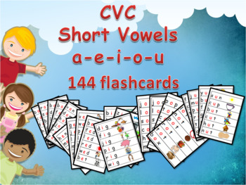 CVC  Flashcards Word Family with Pictures