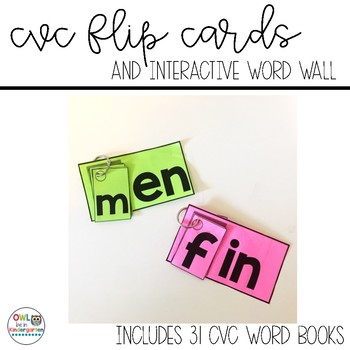 CVC Flip Books and Interactive Word Wall