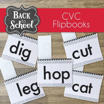 CVC Flip Books (Build it, Teach it, Read it)