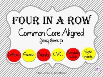 CVC Fluency Bundle of Four in a Row Games