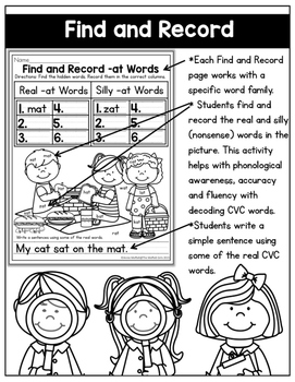 CVC Fluency: Find and Record