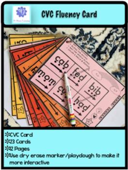 CVC Fluency Card
