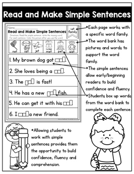 CVC Fluency: Read and Make Simple Sentences