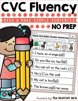 CVC Fluency: Read and Make Simple Sentences