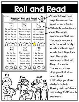 CVC Fluency: Roll and Read