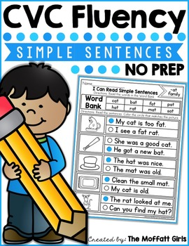 CVC Fluency: Simple Sentences