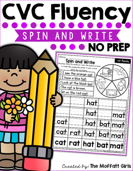 CVC Fluency: Spin and Write