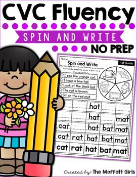 CVC Fluency: Spin and Write