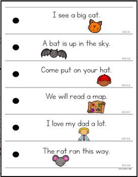 CVC Fluency Strips- Short A