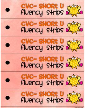 CVC Fluency Strips- Short U