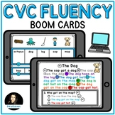 CVC Fluency Boom Cards Distance Learning Comprehension