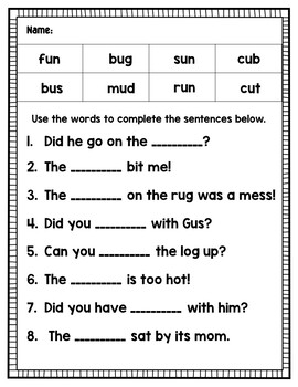 CVC Fluency and Fun Bundle