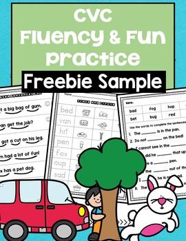 CVC Fluency and Fun Freebie