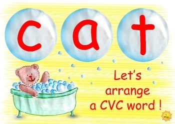 CVC Fun Activity: Bubble Bath Bear Edition