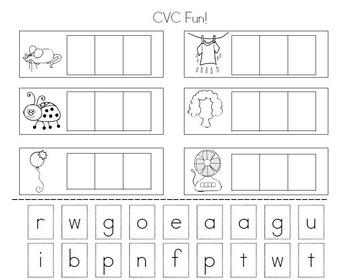 CVC Fun! Learn How To Build CVC Words!