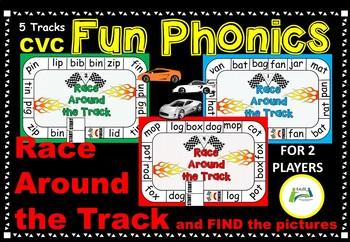 CVC Fun Phonics (Race Around the Track)