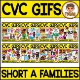 CVC GIFS Bundle l CVC Short A Word Families l TWMM Clip Art