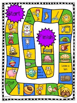 CVC Game Board and Rhyming Activity