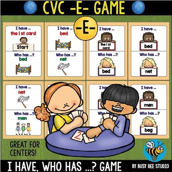 CVC Game: I have, who has (-E-)