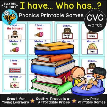 CVC Game: I have, who has (a,e,i,o,u)