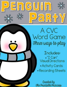 Penguin Party Game for CVC Words