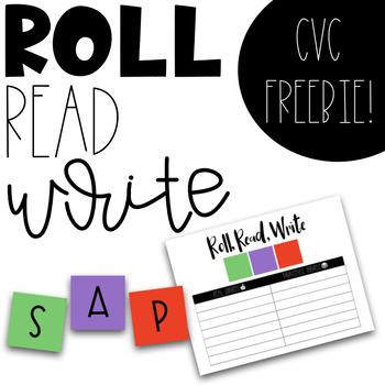 CVC Game - Roll, Read, Write - Real vs Nonsense Words