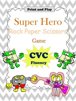CVC Game for Fluency:  Rock Paper Scissors