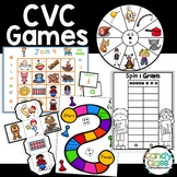 CVC Word Work Games {Short Vowel Word Work Centers}