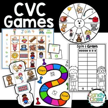 CVC Word Games {Short Vowel Word Work Centers}